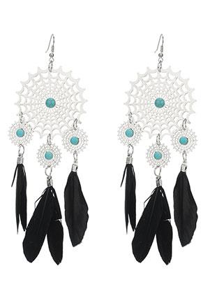 Snowfall Fashion Co Uk Dreamcatcher Earrings 15x5cm