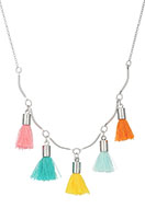 www.snowfall-beads.com - Necklace with tassels 45-50cm - J04953
