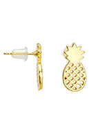 www.snowfall-beads.de - Metall Ohrstecker Ananas 16,5x8mm - J04974
