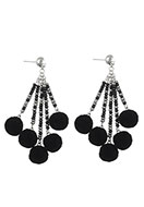 www.snowfall-beads.com - Earrings with pompoms 85x35mm - J05172