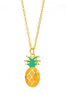 www.snowfall-beads.com - Necklace with pendant pineapple 46-51cm - J05189