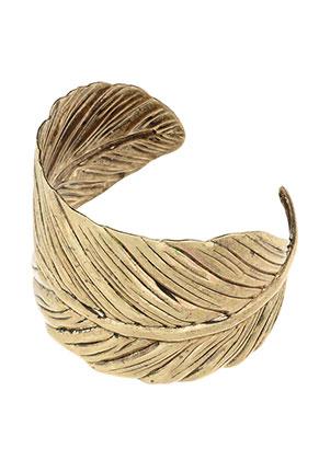www.snowfall-beads.com - Cuff bracelet feather 19cm