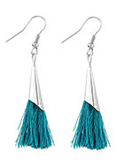 www.snowfall-beads.com - Earrings with tassels 60x10mm - J05302