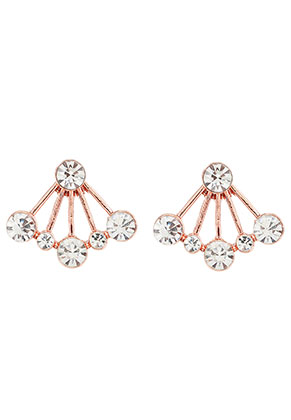 www.snowfall-beads.com - Metal ear jackets with strass 21x18mm