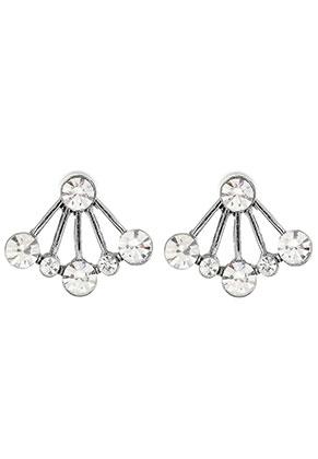 www.snowfall-beads.fr - Boucles d'oreilles ear jacket en métal avec strass 21x18mm