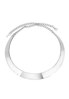 www.snowfall-beads.com - Metal neck bangle with 9 holes 38cm