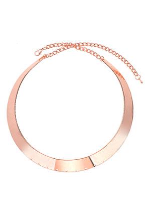 www.snowfall-beads.fr - Collier rigide en métal avec 9 trous 38cm