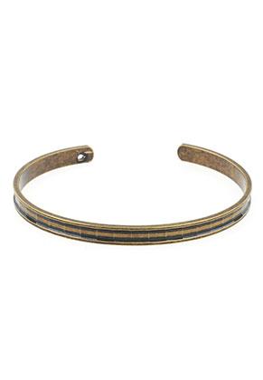 www.snowfall-beads.nl - Brass cuff armband blank 19cm, 5mm breed