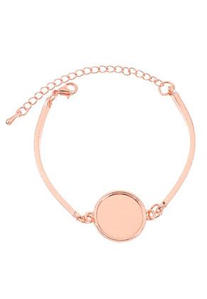 www.snowfall-beads.de - Metall Armband mit Fassungen für 16mm Klebstein