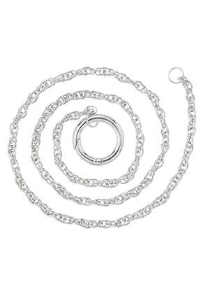 www.snowfall-beads.nl - EasyClip metalen halsketting 60cm