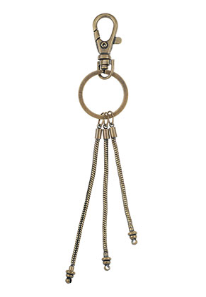 www.snowfall-beads.com - Large-hole-style metal key fob 16,5x3cm