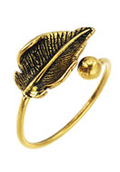 www.snowfall-fashion.fr - Bague en brass feuille >= Ø 17mm - J05591