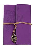 www.snowfall-beads.fr - Carnet de notes décoré avec feuilles - J05680