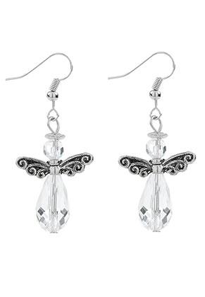 www.snowfall-beads.com - Angel earrings 50x22mm
