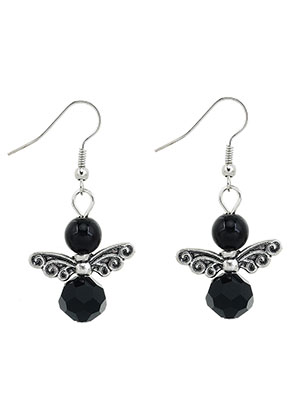 www.snowfall-beads.com - Angel earrings 45x22mm