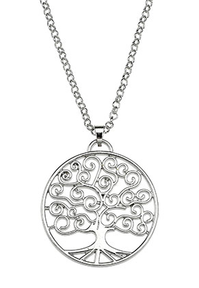 www.snowfall-beads.com - Necklace with pendant tree 60-65cm