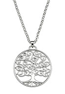 www.snowfall-beads.com - Necklace with pendant tree 60-65cm - J05811