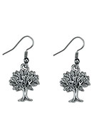 www.snowfall-fashion.com - Metal earrings tree 40x17mm - J05817