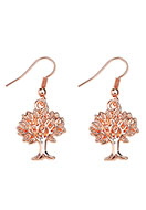 www.snowfall-beads.com - Metal earrings tree 40x17mm - J05818