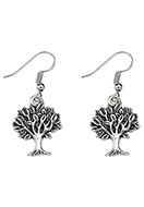 www.snowfall-beads.com - Metal earrings tree 40x17mm - J05819