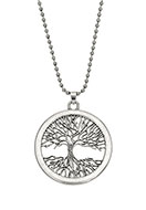 www.snowfall-fashion.co.uk - Necklace with pendant tree 80cm - J05856
