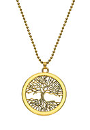 www.snowfall-beads.com - Necklace with pendant tree 80cm - J05857