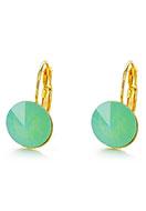 www.snowfall-beads.com - Brass snap earrings with strass 22x13mm - J05877