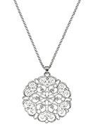 www.snowfall-beads.de - Halskette mit bohemian Anhänger 80-85cm - J05904