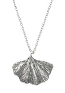 www.snowfall-beads.com - Necklace with pendant ginkgo leaf 45-50cm - J05958