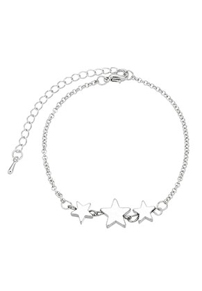 www.snowfall-fashion.co.uk - Metal bracelet with stars 19-24cm