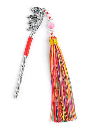 www.snowfall-beads.fr - Marque-pages avec pompon et boîte-cadeau 145x15mm