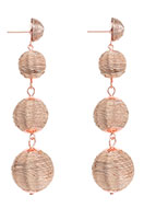 www.snowfall-beads.com - Bonbon earrings 95x25mm - J06105