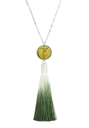 www.snowfall-beads.com - Necklace with tassel 45-50cm