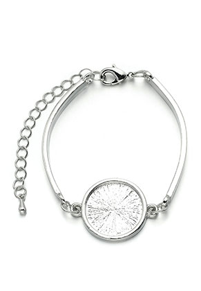 www.snowfall-beads.com - Metal bracelet with setting for 18mm flat back