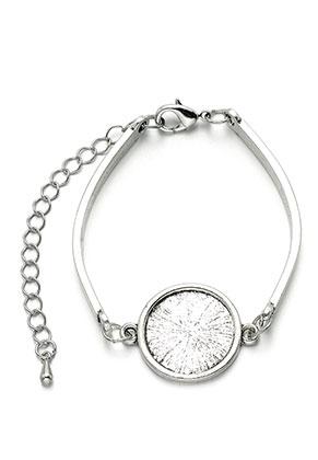 www.snowfall-beads.fr - Bracelet en métal avec cadre pour 18mm cabochon