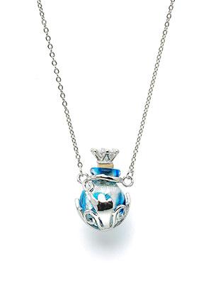 www.snowfall-fashion.nl - Metalen halsketting met glazen flesje 50-55cm