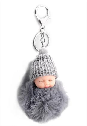 www.snowfall-fashion.nl - Sleutelhanger met pluizenbol baby