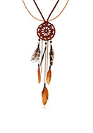 www.snowfall-beads.com - Dreamcatcher necklace 70cm - J06637