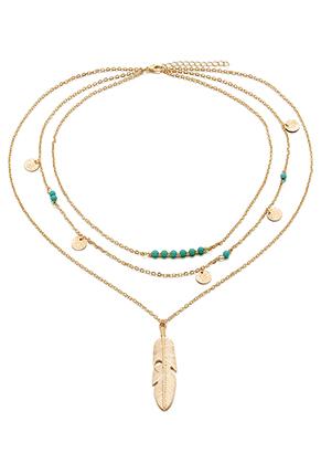 www.snowfall-beads.nl - Laagjes ketting met bedels 45-50cm