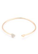 www.snowfall-perles.be - Bracelet manchette avec coeurs et strass 21cm - J06728