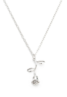 www.snowfall-beads.com - Necklace with pendant rose 50-55cm - J06735
