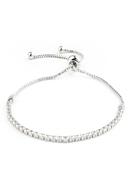 www.snowfall-perles.be - Bracelet en métal avec strass 15-25cm - J06737