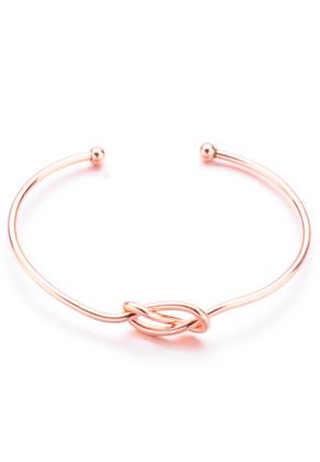 www.snowfall-beads.com - Cuff bracelet with knot 18cm