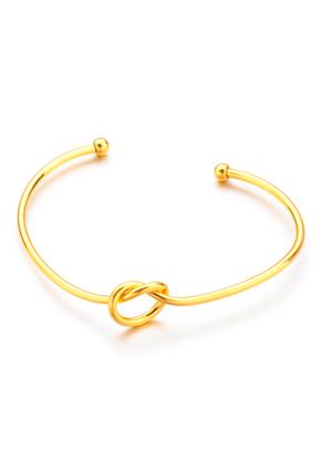 www.snowfall-mode.be - Bracelet manchette avec nœud 18cm