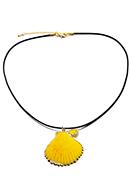 www.snowfall-beads.fr - Colliers en cordon ciré avec pendentif coquillage 45-50cm - J06833