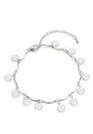 www.snowfall-beads.fr - Bracelet/bracelet de cheville avec fleurs 21-26cm - J06887