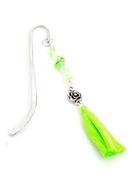 www.snowfall-beads.com - Bookmark with tassel and natural stone 13x4cm - J06911