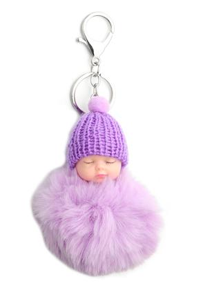 www.snowfall-beads.fr - Porte-clés avec boule de peluche bébé