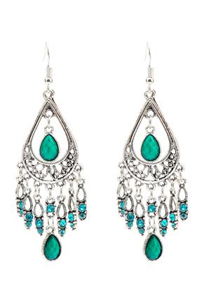 www.snowfall-beads.fr - Boucles d'oreille avec strass 85x30mm
