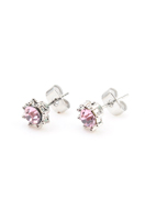 www.snowfall-fashion.com - Metal ear studs with strass 17x8mm - J07118